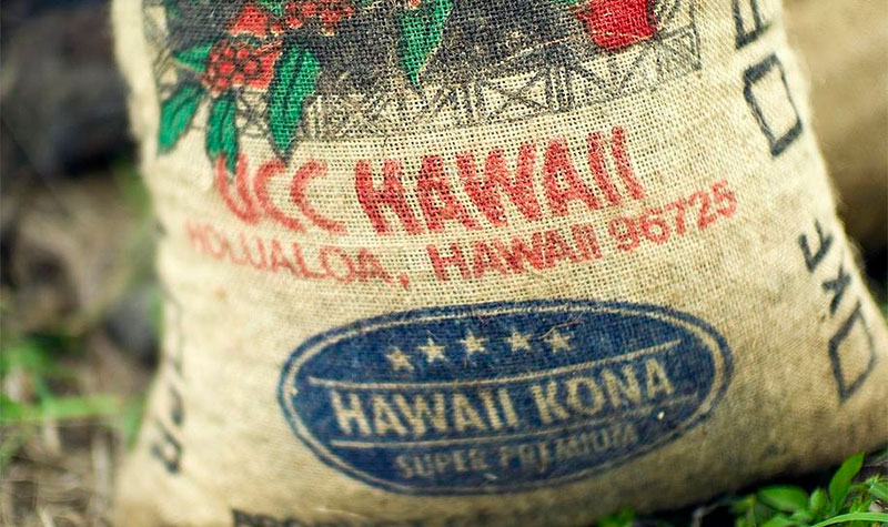bag of kona coffee