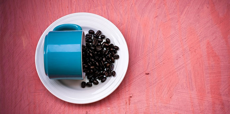 espresso beans in cup