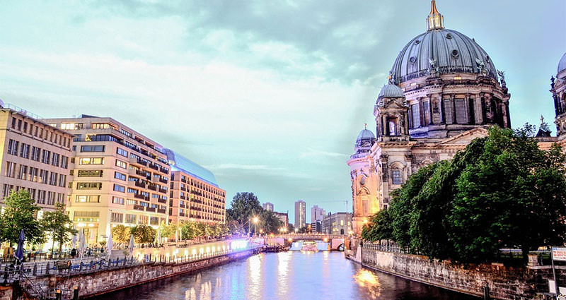 berlin cathedral and city