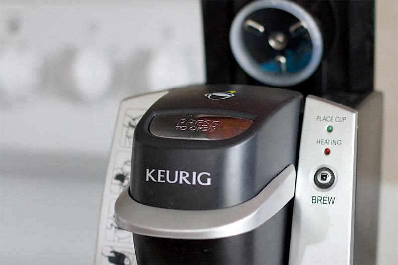 keurig coffee maker closeup