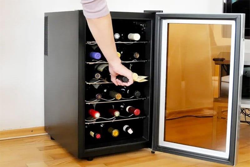 wine cooler in home